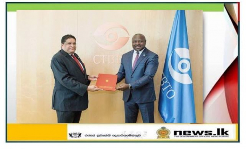 Permanent Representative Majintha Jayesinghe Presents Credentials to the Comprehensive Nuclear-Test-Ban Treaty Organization (CTBTO)