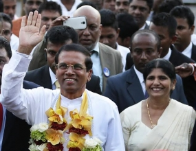 New President Maithripala Sirisena will address the nation from Paththirippuwa, Kandy