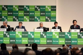 Sri Lankan PM delivers kenote address at STS Forum in Japan