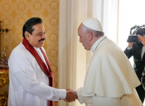 President has audience with Pope Francis; extends invitation to visit Sri Lanka