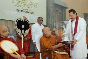 Aktha Pathra presented to Most Ven.Thirukunamale Ananda Thero