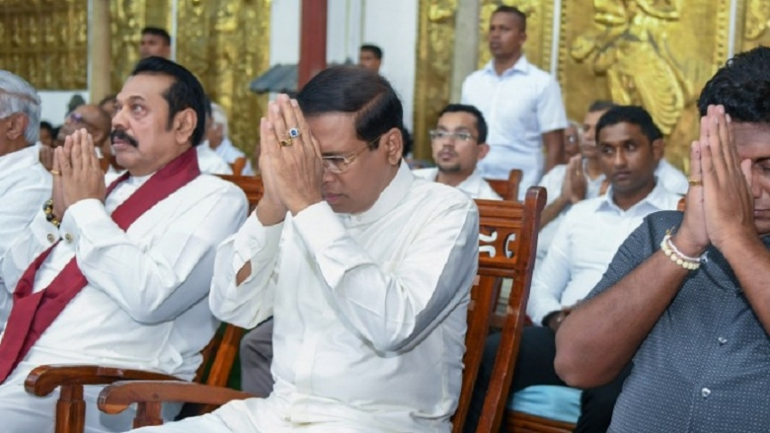 President joins the religious ceremony at Gangarama Temple