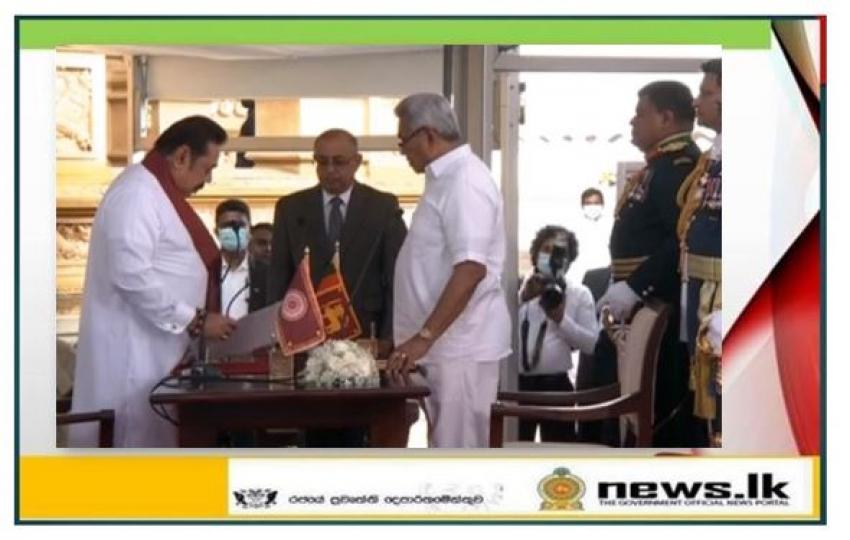 Mahinda Rajapaksa takes oath as new Prime Minister