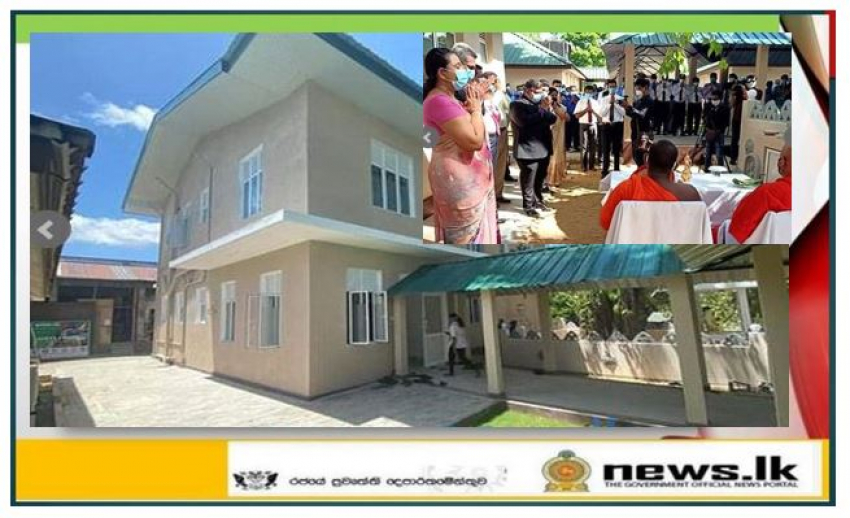 Navy assists with technology and labour for construction of a building for C T S Division at National Institute of Infectious Diseases