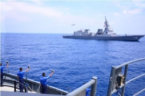 SL-Japan Naval ships in sea-borne exercise