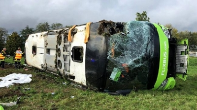 Lankan among 33 injured as bus overturns in France
