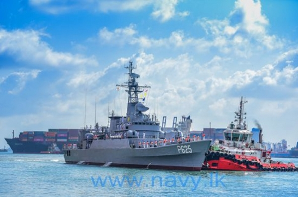 Navy's latest inclusion P 625 vessel arrives at Colombo