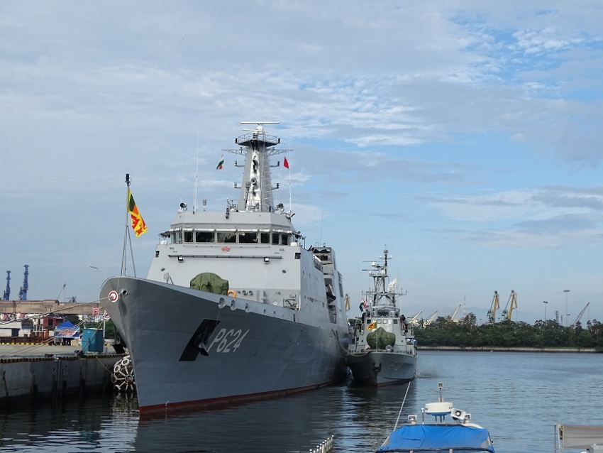 "SLNS ""Sindurala"" and ""Suranimila"" arrive after SLINEX-2019"