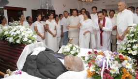 President pays last respect to C.M.B.Bogollagama