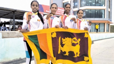 Lankan women row and roar to bronze after maiden silver