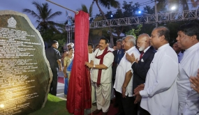 President opens Bellanvila Section of Weras Ganga Development Project