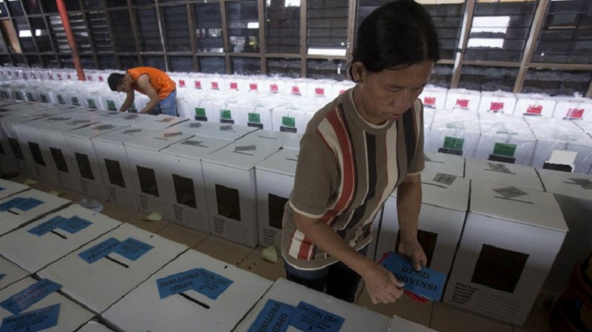 Indonesian election staff died from overworking during polls