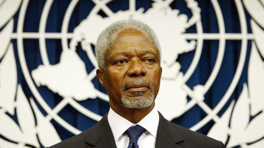 Prime Minister'S condolence message on Kofi Annan