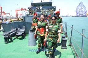 Foreign cadet delegation visits Sri Lanka Navy Headquarters