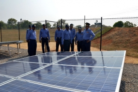 New solar power plant at  Palavi SLAF Station opened