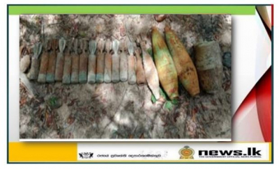 Naval operations lead to recover explosive items
