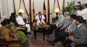 PICU-Project Officials from Hanover / Germany meet Sri Lankan President
