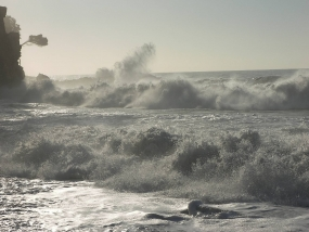 Sudden increase of wind speed over sea areas