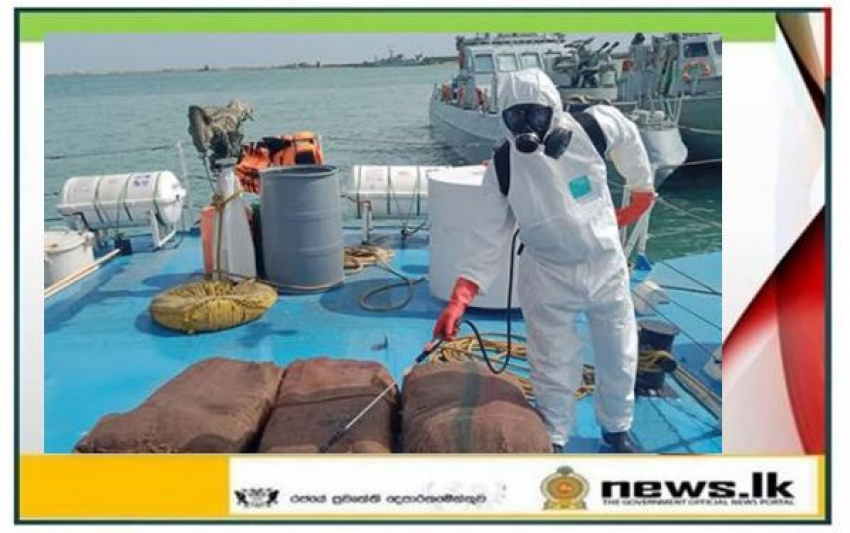 Navy seizes a stock of Kerala cannabis worth about Rs. 71 million with 03 suspects