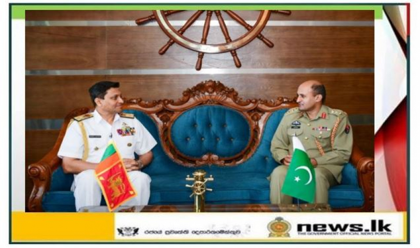 Newly appointed Pakistan Defence Advisor pays courtesy call on Commander of the Navy