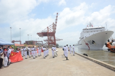 'Ark Peace' departs from Colombo Port