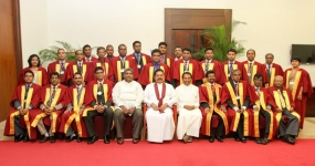 Induction of 1th President of Sri Lanka Judicial Medical Officers Association