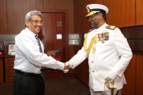 New Navy Chief calls on the Secretary Defence