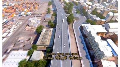 Colombo's first elevated roadway begins