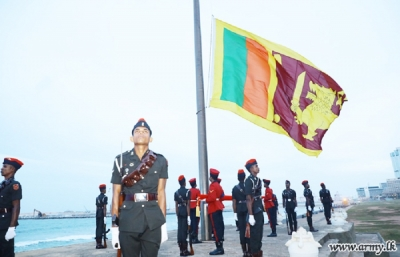 Ceremonials Mark National Flag-Raising at Galle Face