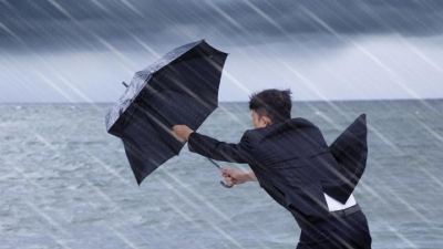 Showery and windy conditions due to south-west monsoon