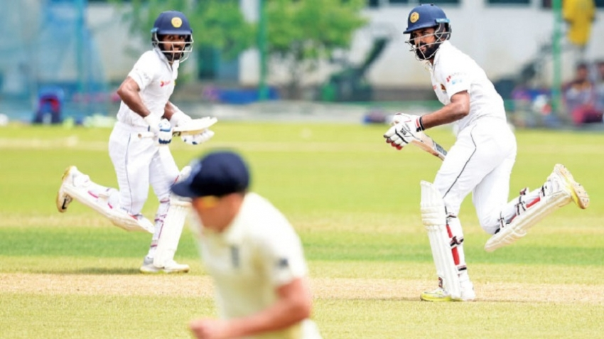 Kaushal Silva, Mathews warm-up for Galle Test