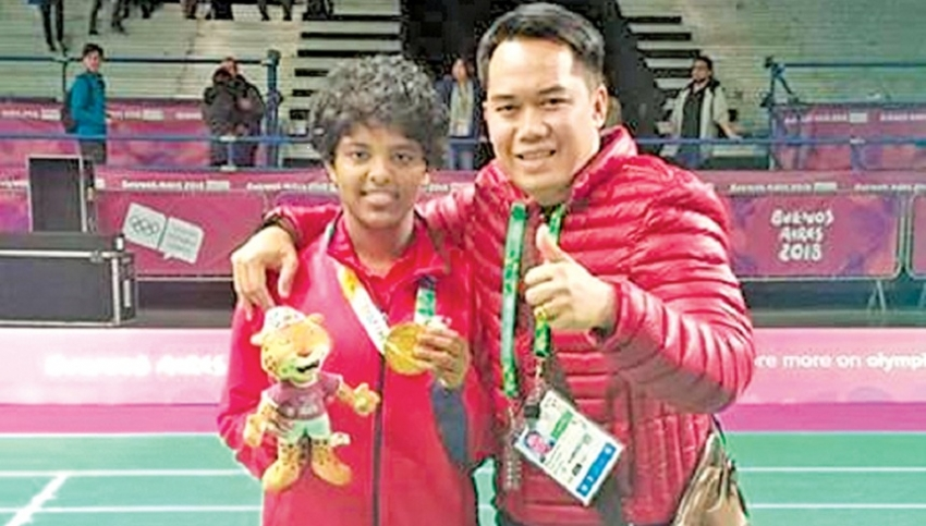 Hasini takes first gold medal at Youth Olympics