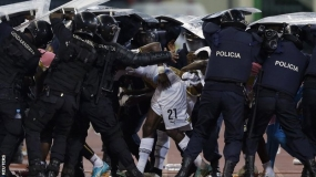 Africa cup semi-final a 'war zone'