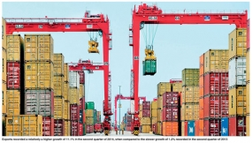 Sri Lanka's export trade sector recorded 11.1 % growth rate
