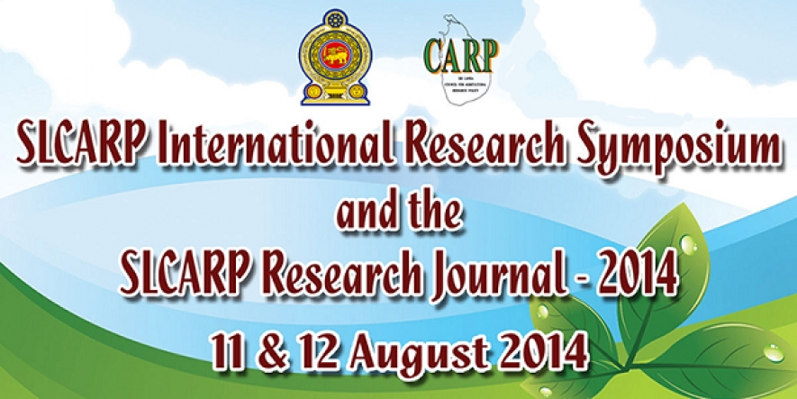 SLCARP Intl. Research Symposium 2014
