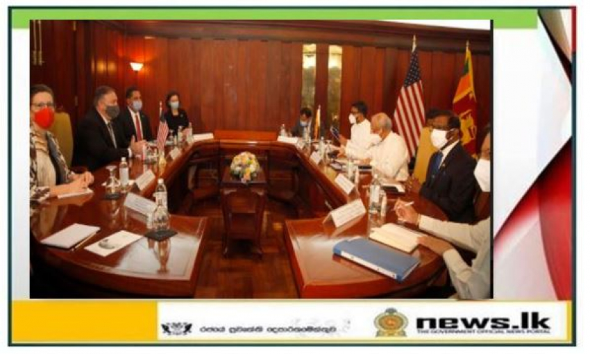 Foreign Minister Dinesh Gunawardena and US Secretary of State Michael Pompeo hold bilateral discussions in Colombo