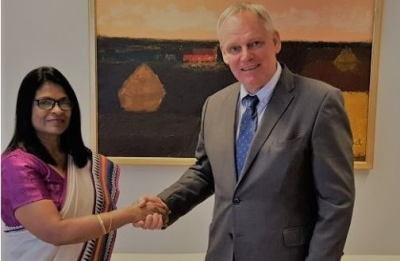 AMBASSADOR ASIRWATHAM MEETS WITH BELGIUM FOREIGN SECRETARY
