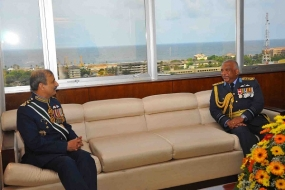 Pakistan Air Chief Calls on Airforce Commander