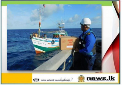 SLNS 'Samudura' continuous to provide fuel to distressed fishing trawlers at sea