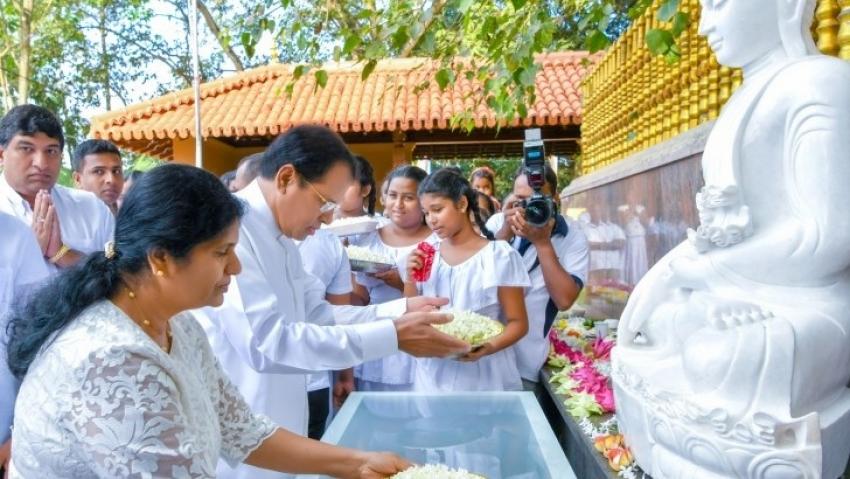 """""""Sadaham Yathra """" held centering Egoda Kelaniya Raja Maha Vihara"""
