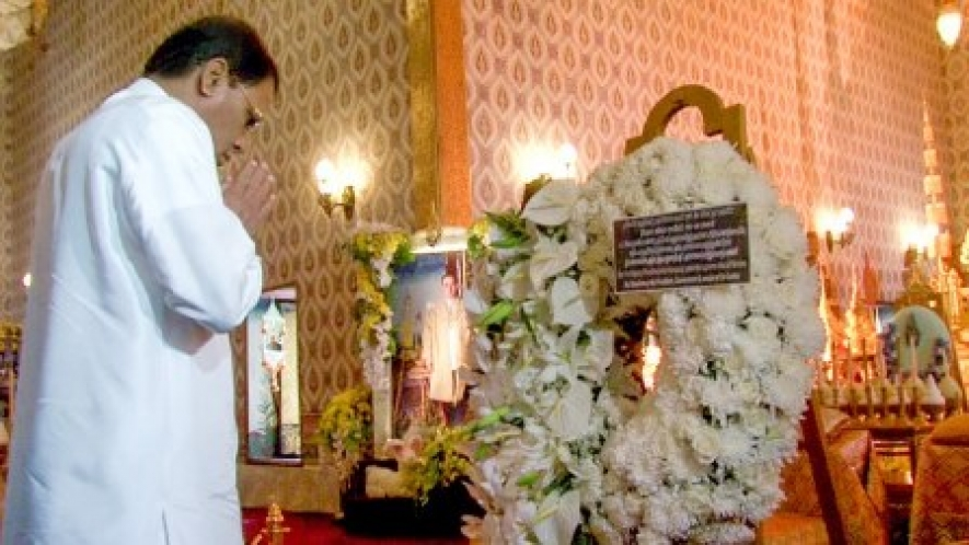 President pays last respects to the late king of Thailand