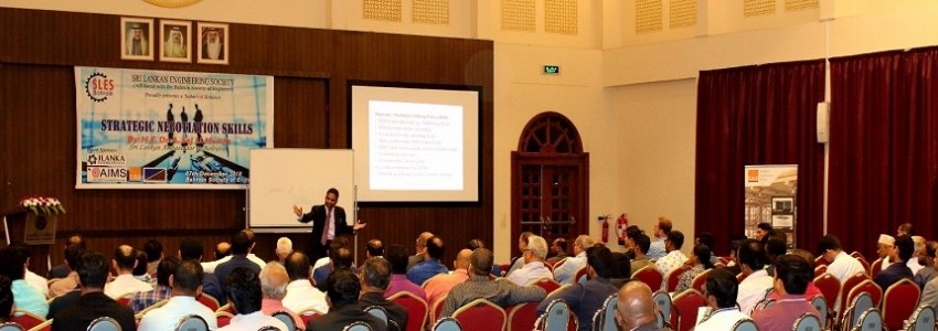 "BAHRAIN  ENGINEERING SOCIETY  CONDUCTS  SEMINAR ON  ""STRATEGIC NEGOTIATIONS"""