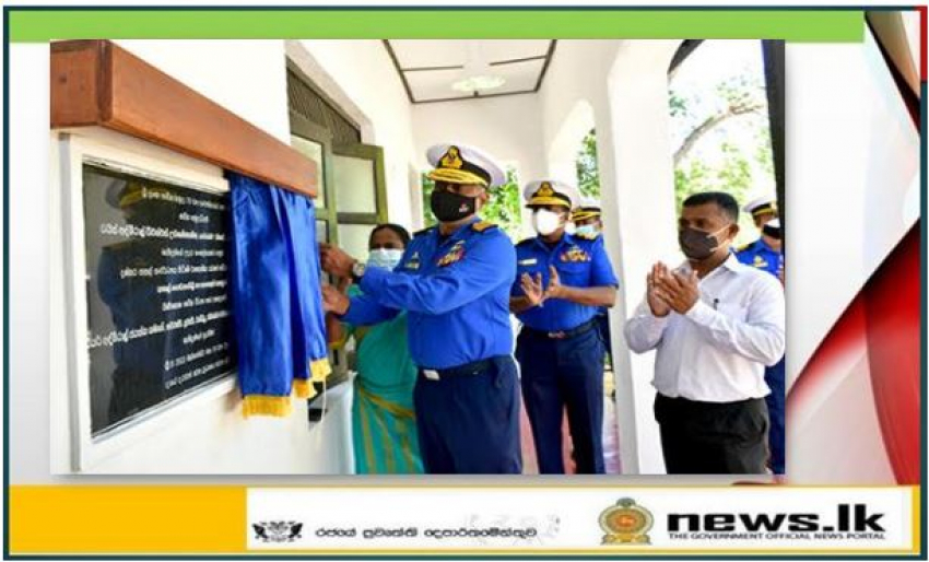 Navy expands infrastructure at Hulannuge Vidyalaya in Ampara for benefit of its children