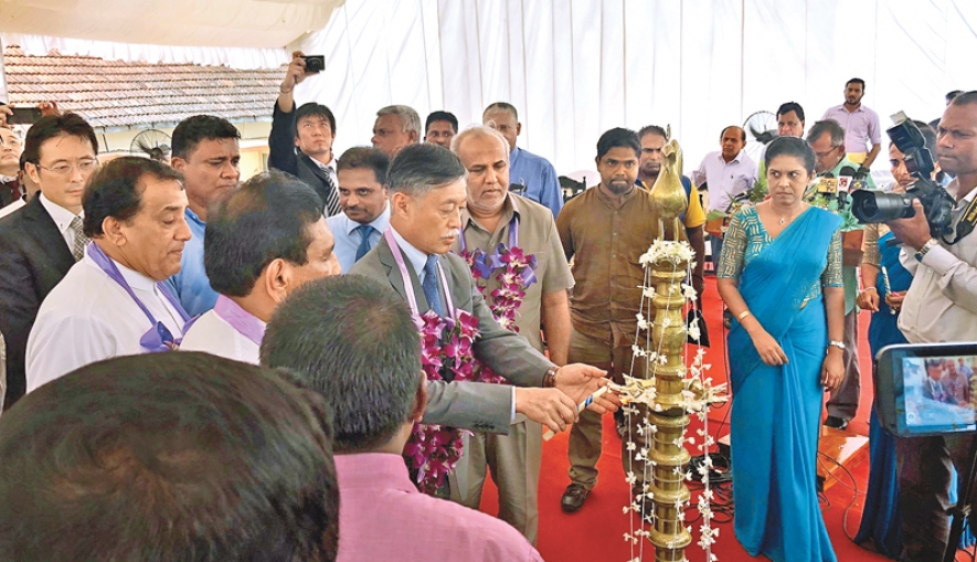 Beruwala receives pre-stressed concrete tank