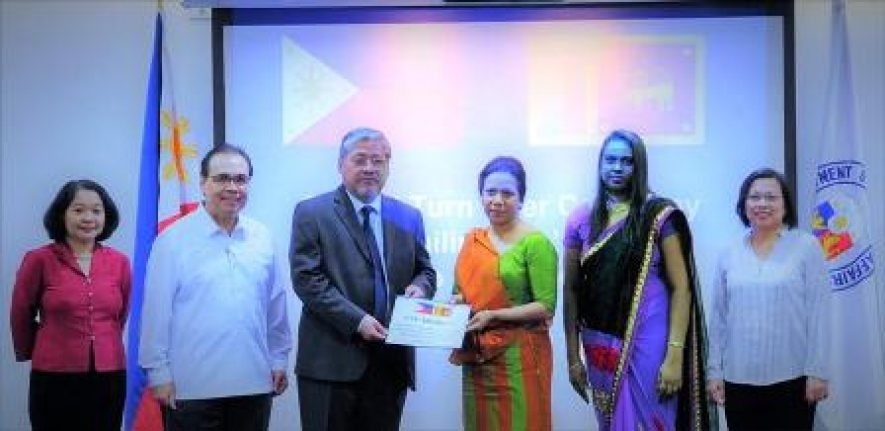 "Assistance from Philippine to rebuild infrastructure affected by  ""Roanu"""