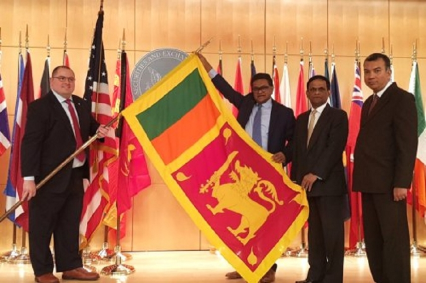 US SEC places Sri Lanka national flag permanently in their auditorium