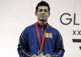 Sudesh Peiris wins a Silver Medal at Commonwealth Games