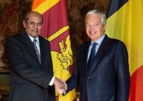 FM Tilak Marapana meets Deputy PM of Belgium