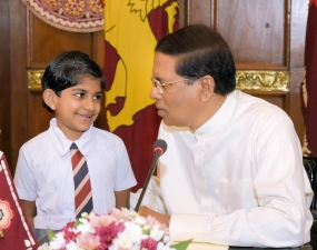 A little girl from Badulla thrilled to meet President