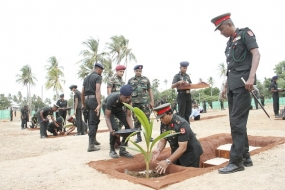 Jaffna Security Forces Launch One More Phase of Coastal Conservation, Planting 200 More Coconut Saplings